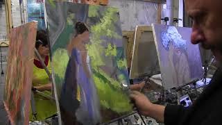 Мастер класс Игоря Сахарова в Москве, уроки для начинающих, масляная живопись
