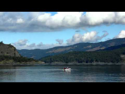 Saltspring Island at Satellite Channel Vancouver Island British Columbia Canada
