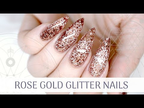 Rose Gold Chrome Marble Gel Nail Tutorial Super Nail Designs