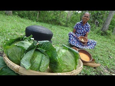 Cabbage Snacks Recipe prepared in my Village by Grandma   Village Life