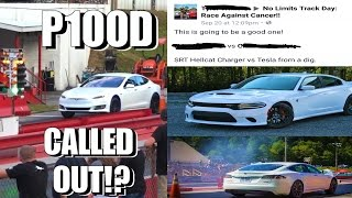 Tesla P100D Called Out by 900HP HELLCAT!? + Nitrous Corvette & Truck Drag Racing