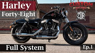 💥Harley Forty-Eight 2019 Full System Modificación | Proceso Completo | Custom Garage