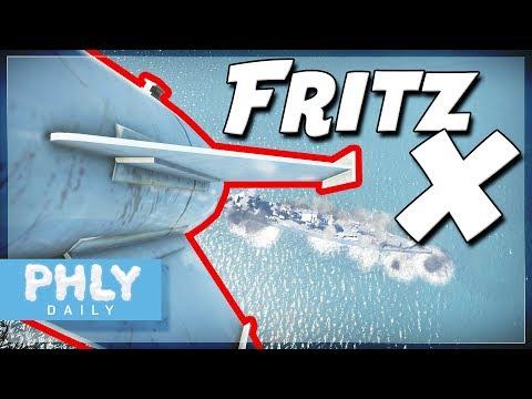 FRITZ-X Guided SHIP KILLER   Fritz-X Vs Ships (War Thunder Naval Forces)