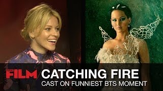Jennifer Lawrence & Cast On Catching Fire's Funniest Behind The Scenes Moment (The Hunger Games)