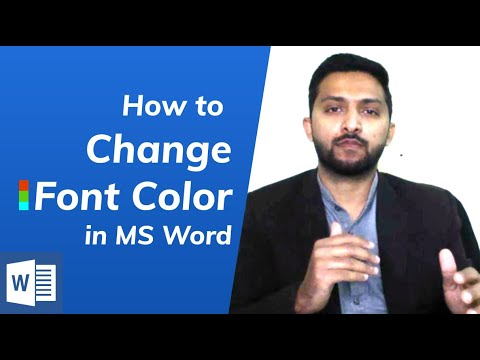 How to Change Font (text) Color in Microsoft Word