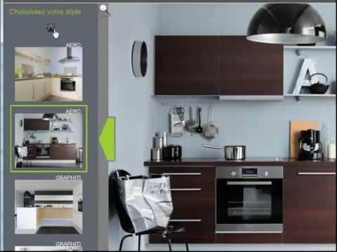 logiciel de conception de cuisine squareclock fly choisissez votre mod le de cuisine youtube. Black Bedroom Furniture Sets. Home Design Ideas