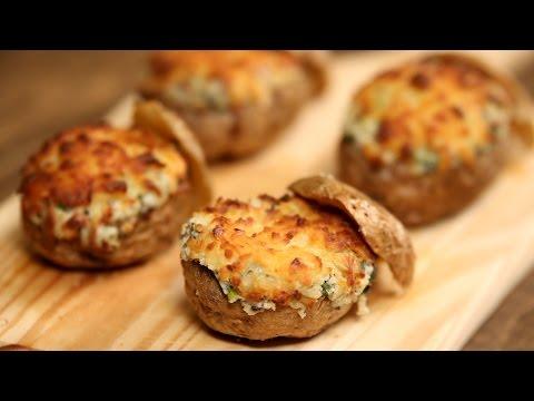 Baked Potatoes | Stuffed With Cream Cheese & Spring Onion | Nick Saraf's Foodlog