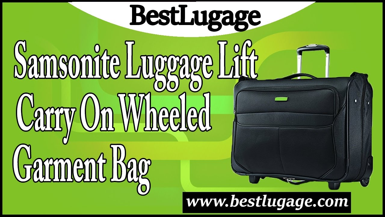 c8269bc63762 Samsonite Luggage Lift Carry On Wheeled Garment Bag Review - YouTube