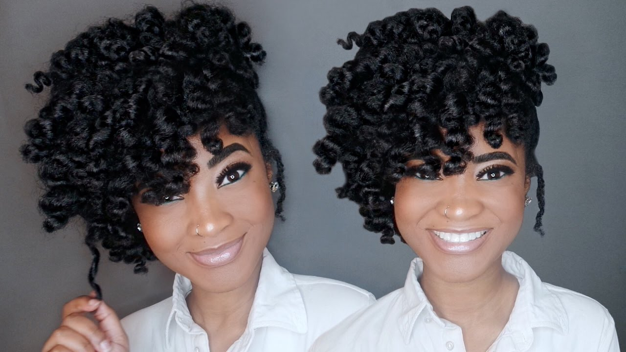 Natural Hair Updo Twistout Youtube