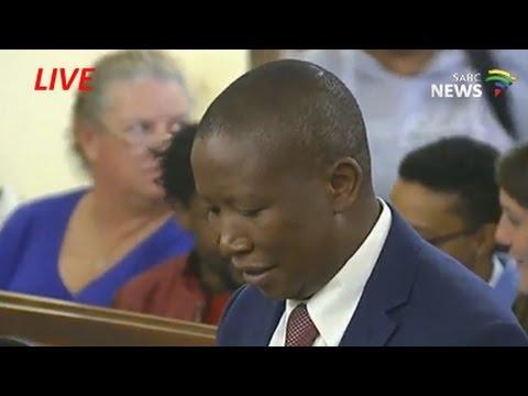 EFF leader Julius Malema appears in court, 7 November 2016