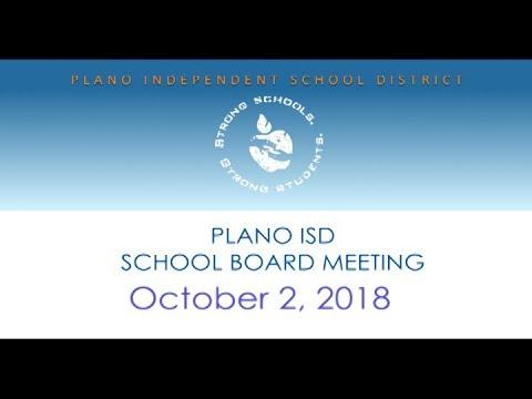 School Board Meeting - October 2, 2018