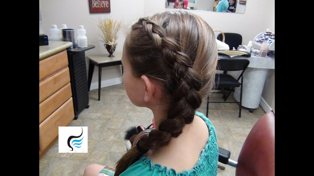 How To Do French Braids Side Dutch Hairstyles Or Inside Out French Braid   Youtube
