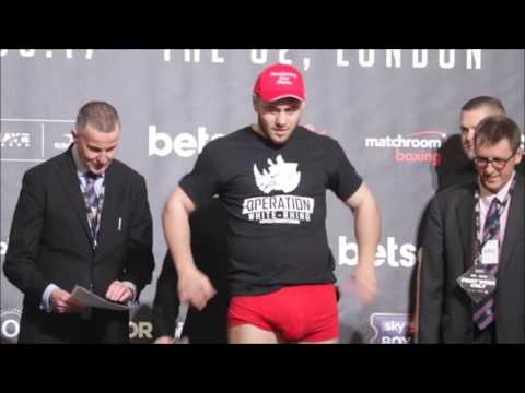 Thumbnail: Dave Allen v David Howe OFFICIAL WEIGH IN BIG PACKAGE