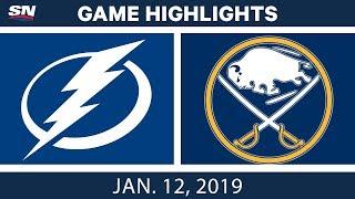 NHL Highlights | Lightning vs. Sabres - Jan. 12, 2019