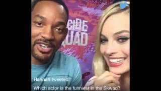 Margot Robbie & Will Smith Twitter Q&A for #AskTheSquad