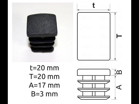 Квадратная  заглушка для профильной трубы 20x20 мм