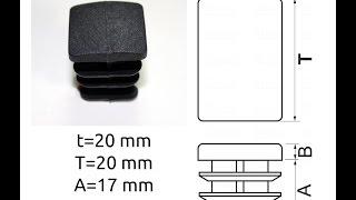 Квадратная  заглушка для профильной трубы 20x20 мм(Предлагаем как розничными партиями, так и оптом внутренние заглушки на профтрубу различного размера Заглу..., 2014-11-21T10:02:26.000Z)