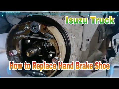 Replace Hand Brake Shoe Assembly Isuzu Truck