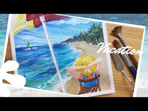 여름휴가/Acrylic Painting/canvas painting/painting art/캔버스그림/아크릴그림/편안한 영상/relaxing art/summer vacation