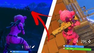A NEW TEDDYBEAR PINK SKIN! (MY FIRST GAME)-FORTNITE IN ENGLISH