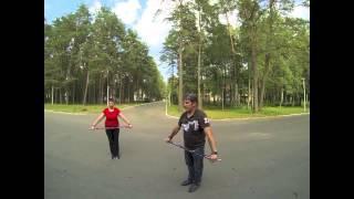 Обучение скандинавской ходьбе на озере Нарочь