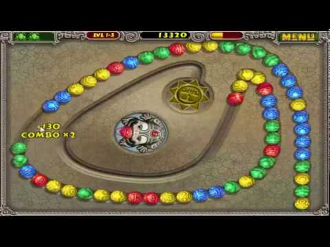Bubble Shooter Similiar Pc Game Zuma Delux Gameplay Youtube