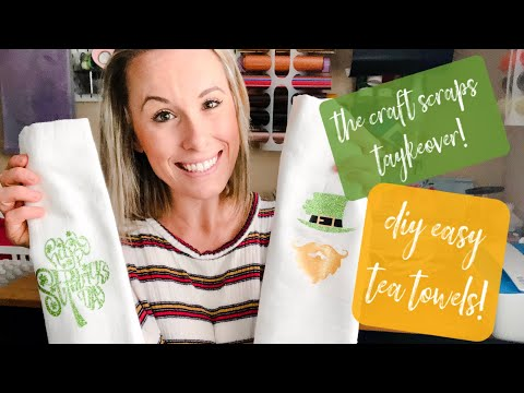 I Took Over Auntie Tay's Channel! | FULL DIY Tea Towel TAYkeover Tutorial with Your Cricut!