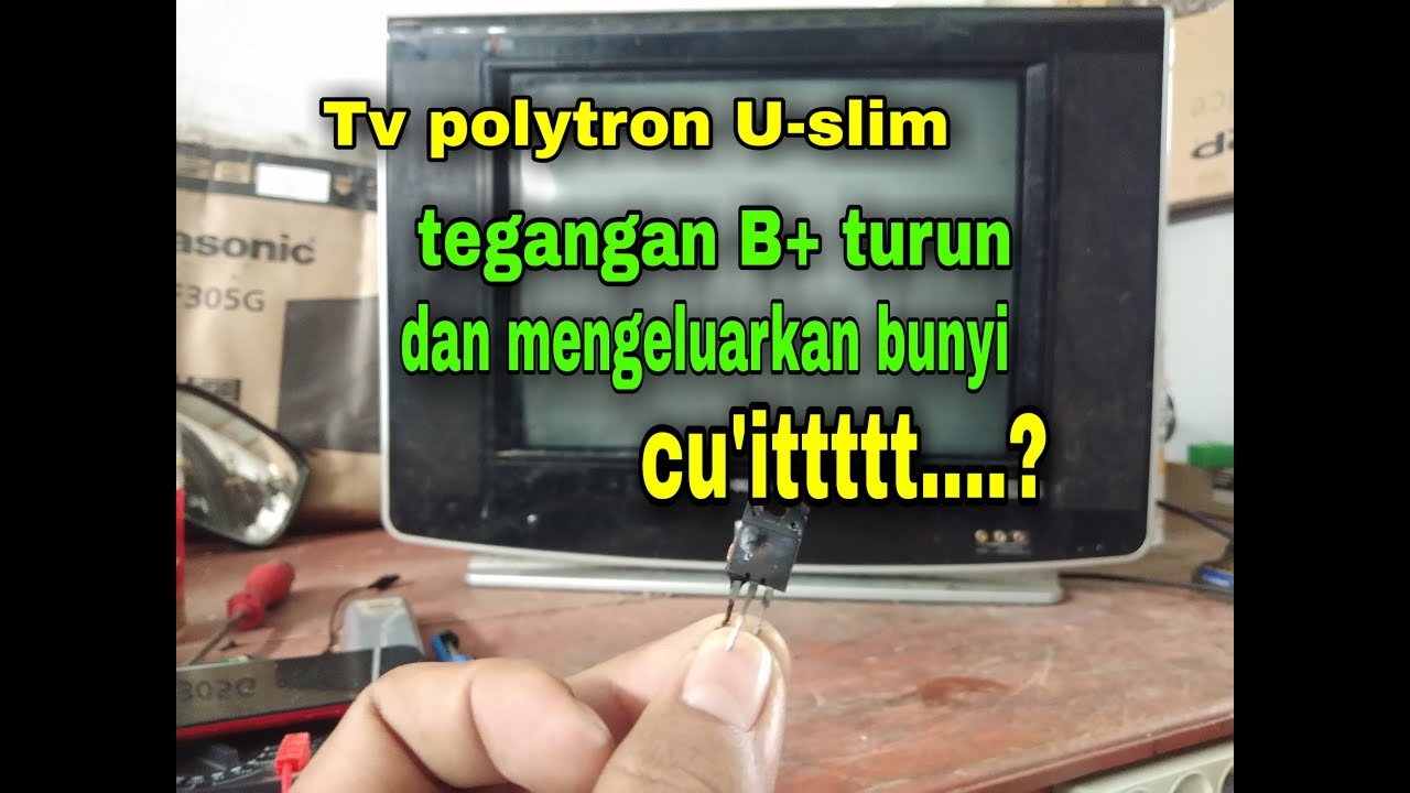 Mangatasi Tv Polytron U Slim Mati Total