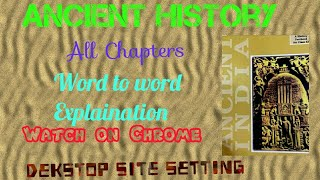 Ancient history by RS Sharma All Chapters
