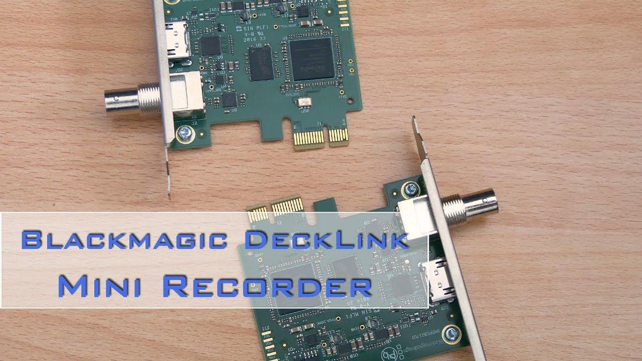 Mein Videogear Decklink Mini Recorder Von Blackmagic De Youtube