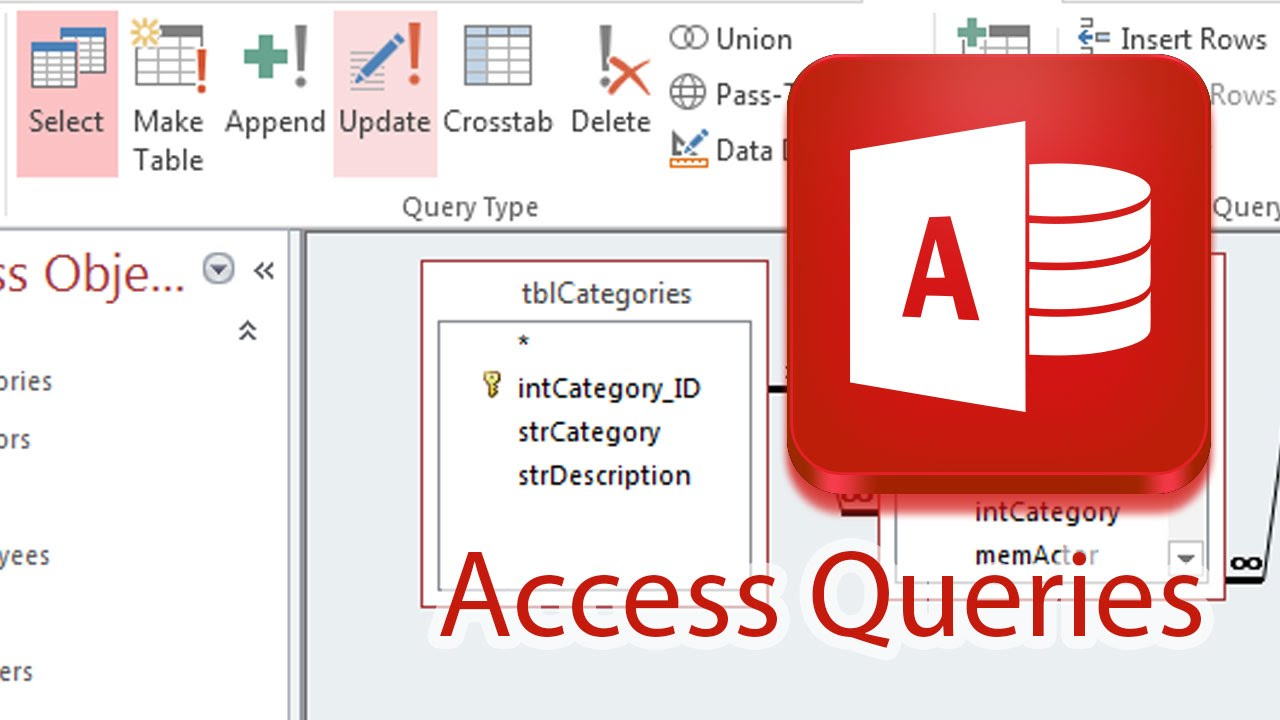 Query Pulling Data From Multiple Tables Access 2013 Youtube