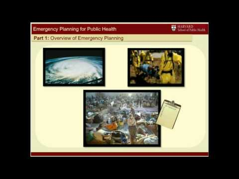 Emergency Planning for Local Public Health