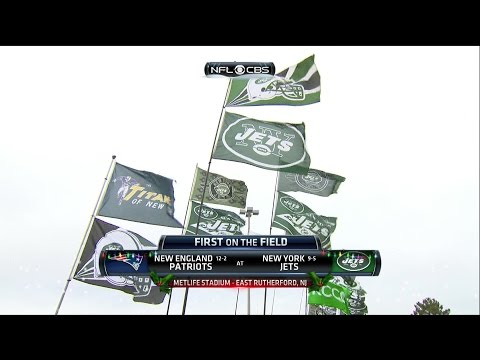 NFL on CBS - 2015 Patriots vs Jets - First on the Field & Game Intro