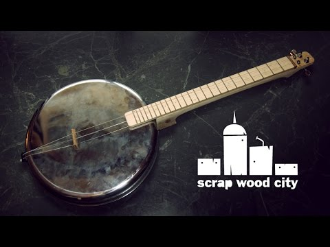 DIY 2 string musical instrument, from an oven pan ( panjo )