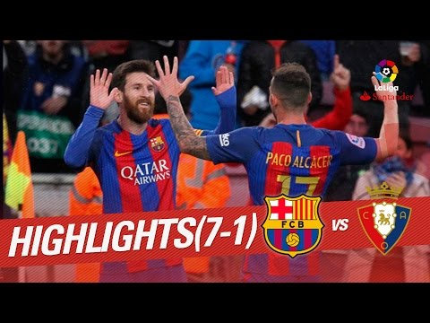 Resumen de FC Barcelona vs Osasuna (7-1)