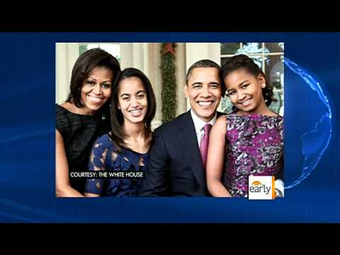 First family all smiles in official portrait