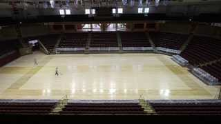 72 Hour Time Lapse -- Basketball Court Sports New Cougars Logo -- TD Arena at College of Charleston
