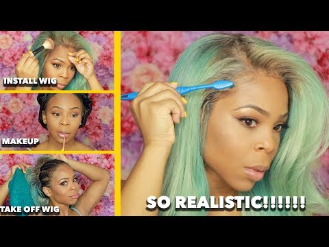 GRWM: How I Install and Remove My Lace Front Wig and Beat My Face   YWIGS