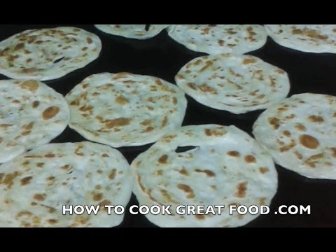 Indian Chef making Paratha Bread - not Recipe