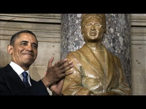 Rosa Parks Statue Unveiled By President Obama