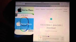 How to Install iOS 9.3 beta without UDID or Developer Account +Download links ipsw