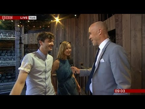 Alex Vlahos and Alexandra Dowling - BBC Breakfast Report on Romeo and Juliet in York