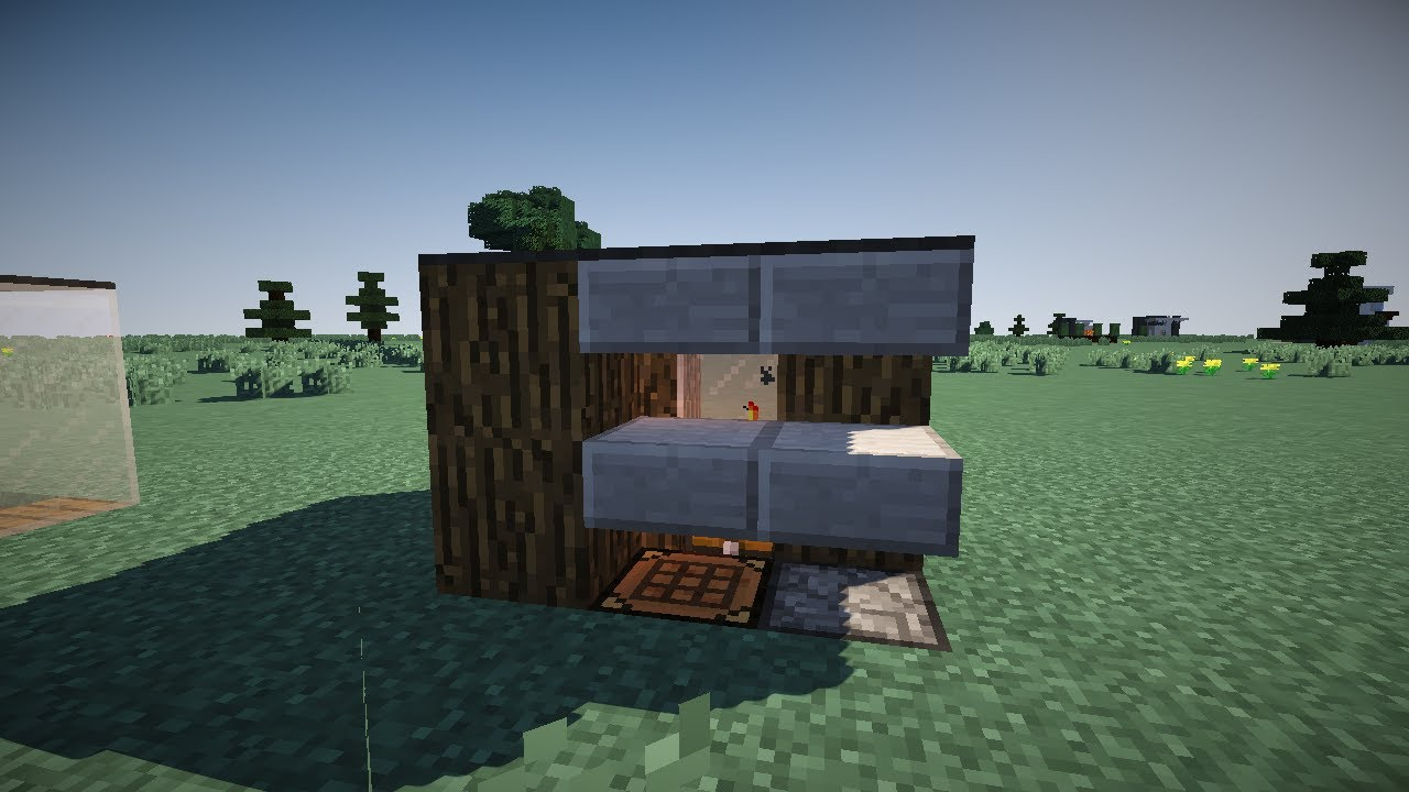 minecraft small shack tutorial smallest house known to man