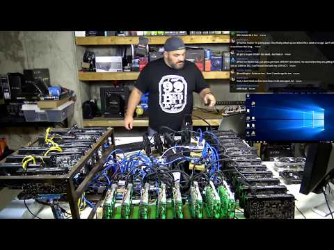 World Record Failed Attempt - Breaking 21+ GPUs on a single motherboard!  LIVE VLOG#68