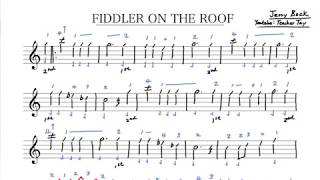 Fiddler on The Roof Violin Sheet Music and Tabs