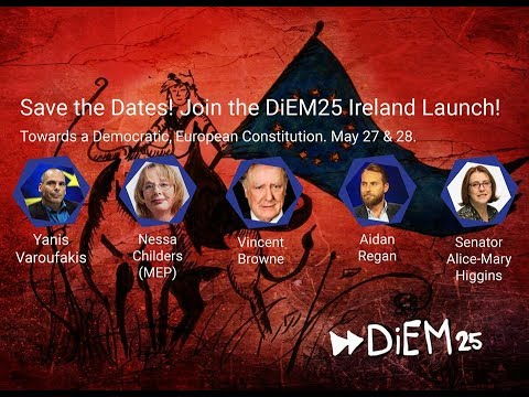 Diem25 Ireland Launch Event Live Stream