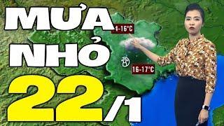 Dự báo thời tiết hôm nay và ngày mai 22/1   Dự báo thời tiết đêm nay mới nhất
