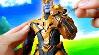 Making Thanos in POLYMER CLAY!