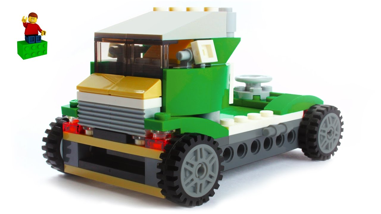 lego creator 31056 green cruiser build 01 green truck lego speed build youtube. Black Bedroom Furniture Sets. Home Design Ideas