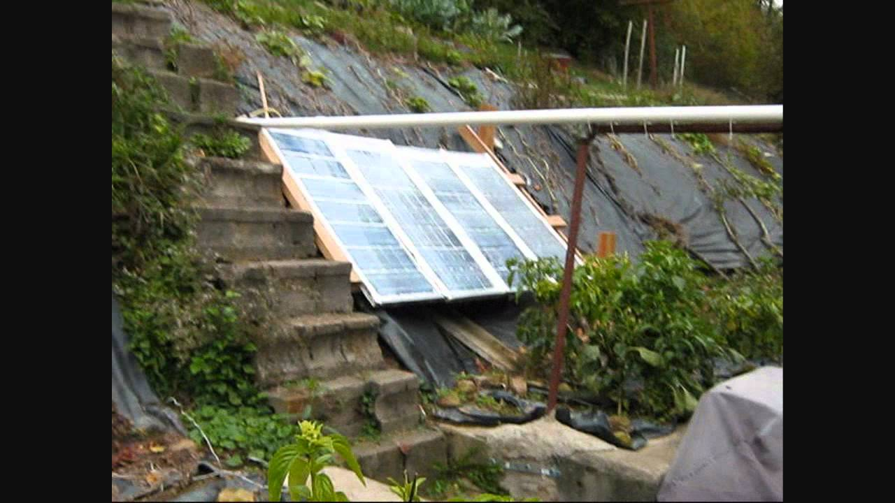 Off Grid Wood Stove Forced Air System Solar Panels